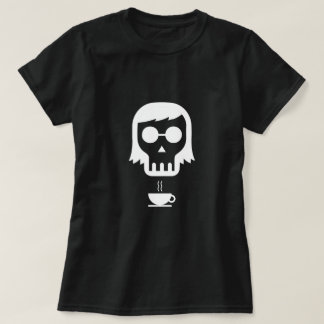 Skull with Cup of Tea/Coffee T-Shirt
