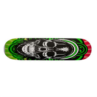 Skull With Diamond in Forehead Skateboard
