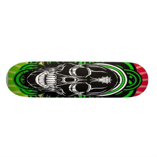 Skull With Diamond in Forehead Skateboard