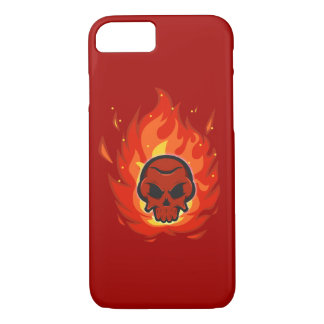 Skull with flame around it iPhone 7 case