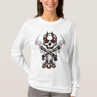 Skull with flames hoodie