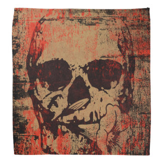Skull with flower head kerchief