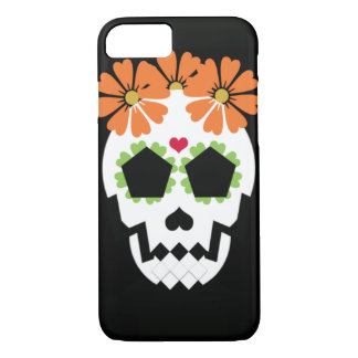 Skull With Flowers Phone Case