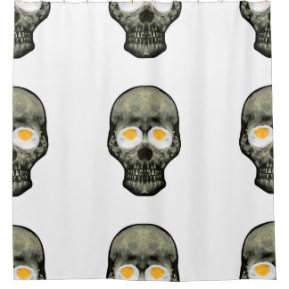 Skull with Fried Egg Eyes