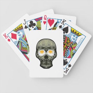 Skull with Fried Egg Eyes Bicycle Playing Cards
