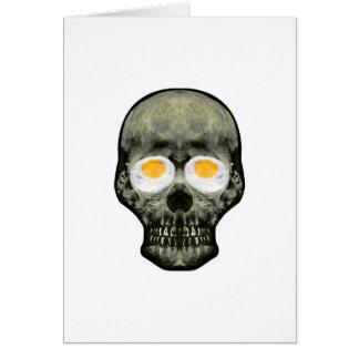 Skull with Fried Egg Eyes Card