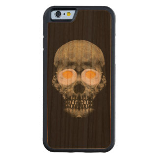 Skull with Fried Egg Eyes Carved Cherry iPhone 6 Bumper Case