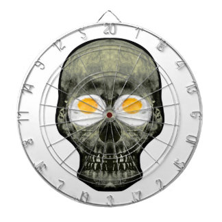 Skull with Fried Egg Eyes Dartboard