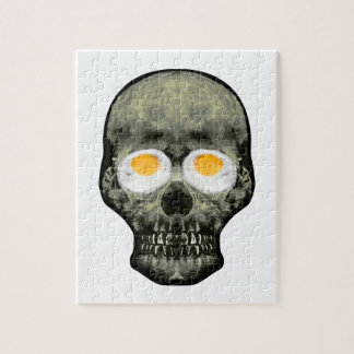 Skull with Fried Egg Eyes Jigsaw Puzzle