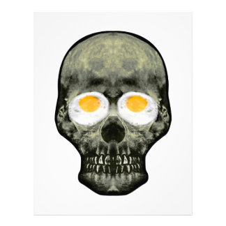 Skull with Fried Egg Eyes Letterhead