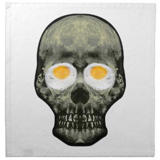 Skull with Fried Egg Eyes Napkin
