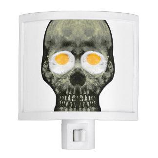 Skull with Fried Egg Eyes Nite Lights