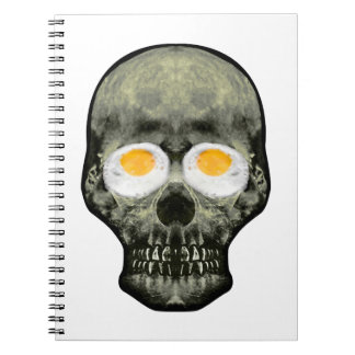 Skull with Fried Egg Eyes Notebook