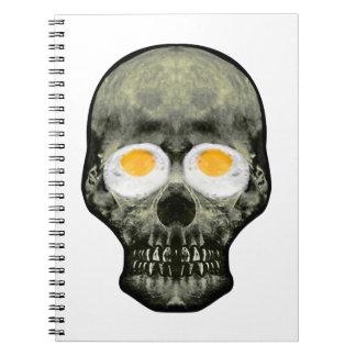 Skull with Fried Egg Eyes Notebooks