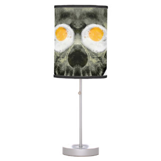 Skull with Fried Egg Eyes Table Lamp