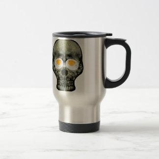 Skull with Fried Egg Eyes Travel Mug