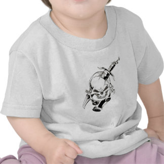 Skull with Gas Mask Tee Shirt