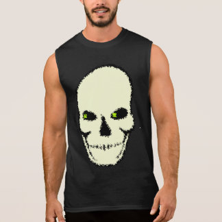 Skull with green eyes shirt