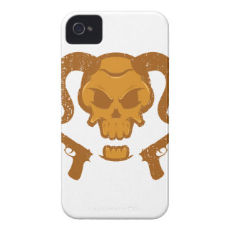 Skull with gun Case-Mate iPhone 4 cases