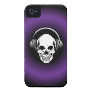 Skull with Headphones BlackBerry Bold iPhone 4 Case-Mate Case
