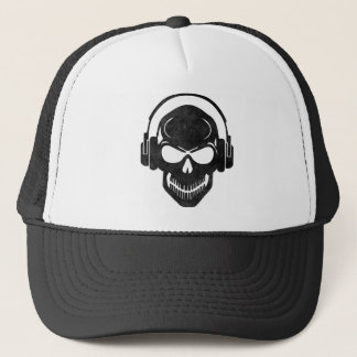 Skull with Headphones - Rave - Electro - Hardstyle Trucker Hat
