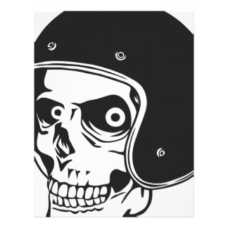 Skull with helmet personalized letterhead