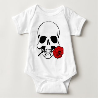 Skull with Rose Baby Bodysuit