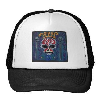 Skull with rown and Swords Trucker Hat