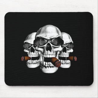 Skull with Shades Mousepads