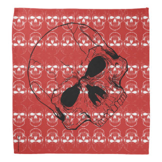 Skull with Skulls Red Bandana