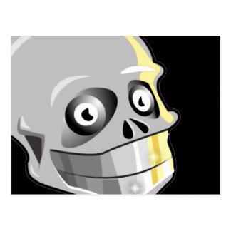 Skull With Sparkling Teeth Postcard