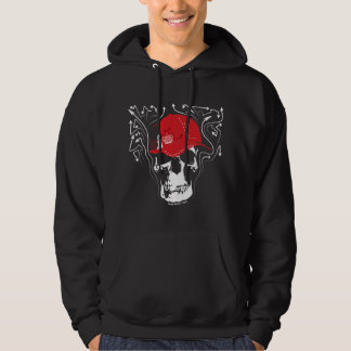 SKULL With Trucker CAP and graffiti arrows Hoodie