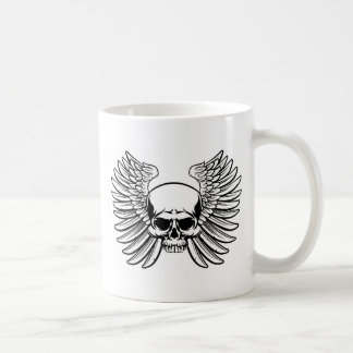 Skull with Wings Coffee Mug
