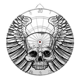 Skull with Wings Dartboard