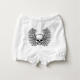Skull with Wings Diaper Cover