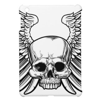 Skull with Wings iPad Mini Cases