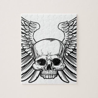 Skull with Wings Jigsaw Puzzle