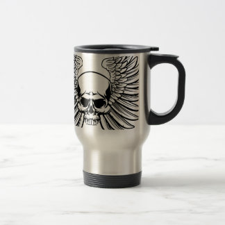 Skull with Wings Travel Mug