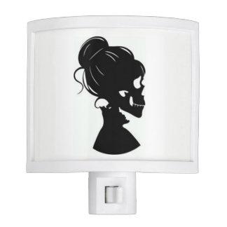 Skull Woman Silhouette Night Light