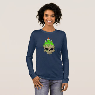 Skull Woman's Bella+Canvas Long Sleeve T-Shirt