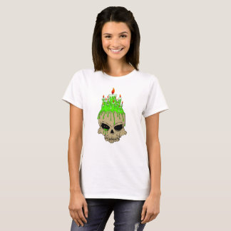 Skull Women's Basic T-Shirt, White T-Shirt
