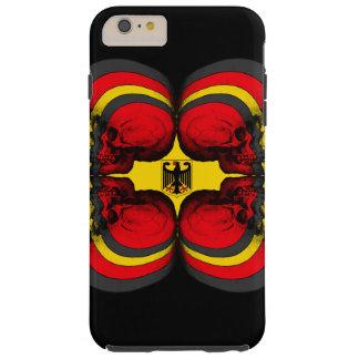 Skull World German Flag Tough iPhone 6 Plus Case