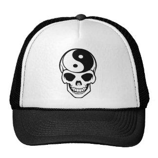 Skull Ying Yang Trucker Hat