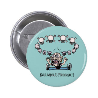 Skulladelic Freakout Pin