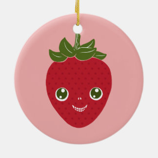 Skullberry, Sweet Strawberry That Has Gone Rogue Ceramic Ornament