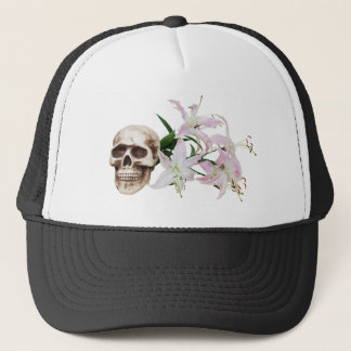 SkullFlowers051409 Trucker Hat