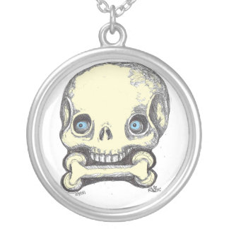 SKULLnBONE Round Pendant Necklace
