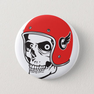 ☞ Skullracer motorcycle helmet 2 Inch Round Button
