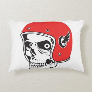 ☞ Skullracer motorcycle helmet Accent Pillow