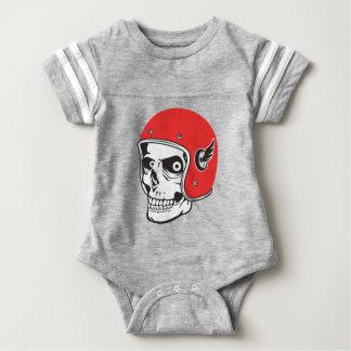 ☞ Skullracer motorcycle helmet Baby Bodysuit